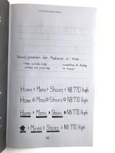 UI workbook - notes page