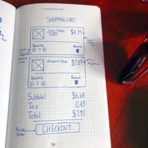 UI workbook - checkout sketch