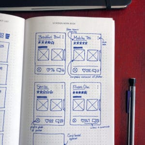 UI workbook - cards sketch