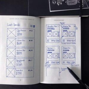 UI workbook - item grid sketch