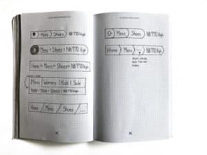 UI workbook - 2 page spread